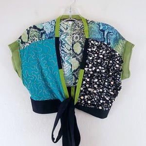 Havenbleu Crop Semi Sheer Sequin Cover Up